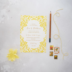 Summer Dream Wedding Invitation Set - invitations