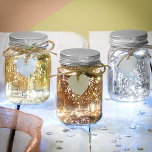 Set Of Three Mini Firefly LED Jars - decoration