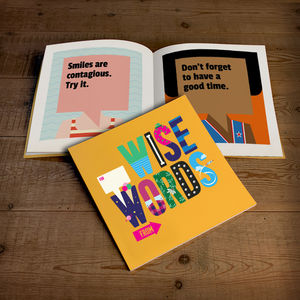 Personalised Book Of Wise Words For Kids, Softback