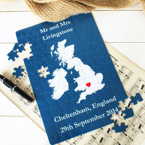 Map Jigsaw - view all anniversary gifts