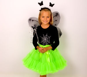 Halloween Ghoulish Pettiskirt With Wings And Wand