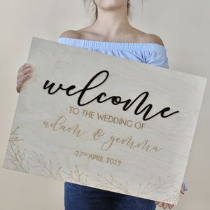 Personalised Welcome To The Wedding Of Sign - outdoor decorations