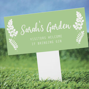 Personalised Garden Stake Gardening Gift - personalised mother's day gifts