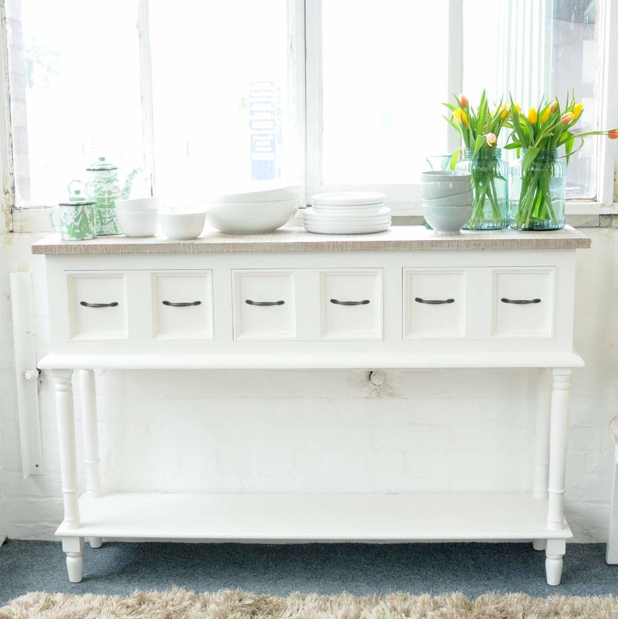 Bayonne Open Shelf Sideboard White Or Grey By The Orchard