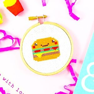 Mini Burger Cross Stitch Kit