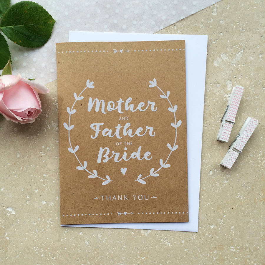 Mother And Father Of The Bride Thank You Card