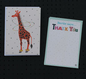 12 Childs Thank You Cards Giraffe Design