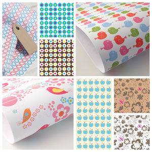 10 X Sheets Assorted Occasion Giftwrap