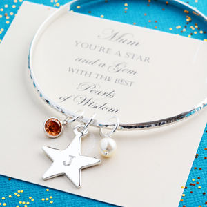 Best Friend, Mum Or Sister, Silver Star Bangle