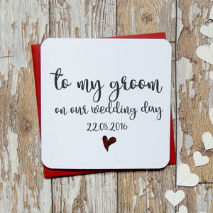 'To My Bride/Groom On Our Wedding Day' Card - summer sale