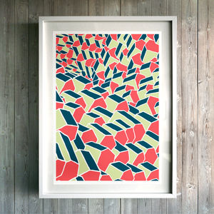 House Pattern Fine Art Giclée Print - modern & abstract