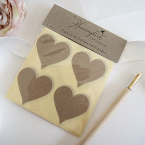 Craft Manilla Paper Decorative Heart Stickers - diy & craft