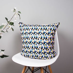 Colourful Geometric Organic Cotton Cushion