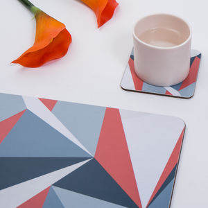 Coral Angles Set Of Placemats - placemats