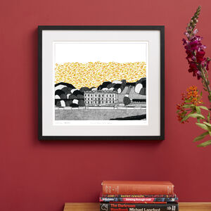 Chatsworth House Screen Print