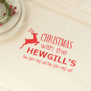 Personalised Christmas Dinner Tablecloth - new in home