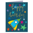 Happy Birthday Space Mini Card