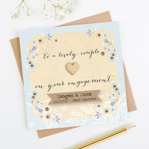 Personalised Engagement Card - shop by category