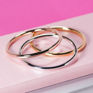 Classic Bangle In Silver, Gold And Rose Gold