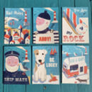 Set Of Six Retro Nautical Postcards