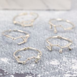 Adjustable Sterling Silver Constellation Ring - rings