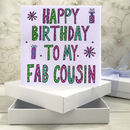 Personalised Cousin Birthday Book Card