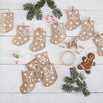 Hessian Stocking Fill Your Own Advent Calendar