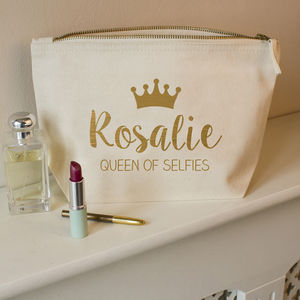 Personalised Queen Make Up Bag - make-up & wash bags