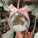 Personalised Star Baby's First Christmas Bauble