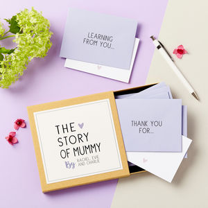 'The Story Of Mum' Messages Gift Box - mother's day cards & wrap
