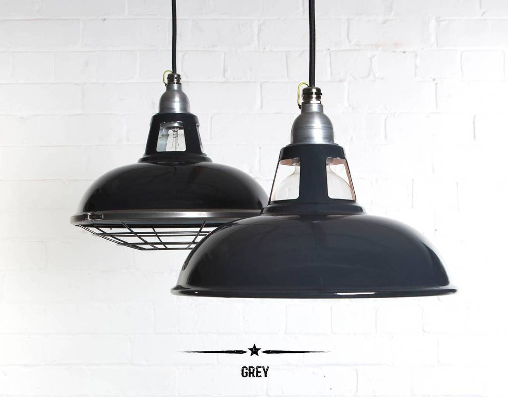Farsley Enamel Industrial Factory Pendant Light