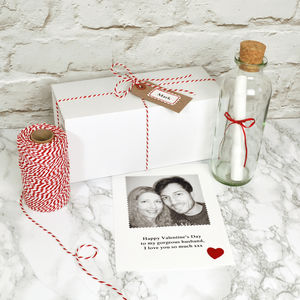 Photo 'Message In A Bottle' Anniversary Gift
