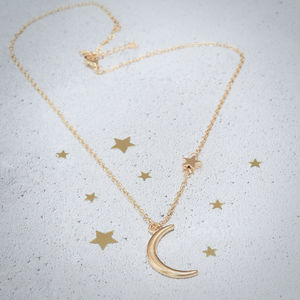 Moon And Star Pendant Necklace - necklaces & pendants