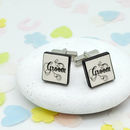 Groom Confetti Wedding Cufflinks