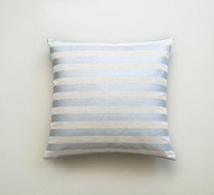 Metallic Silver Stripe Cushion - patterned cushions