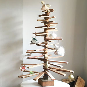 Recycled Wood Christmas Tree - christmas trees