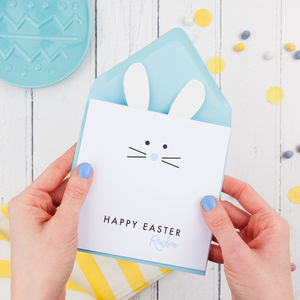 Easter Bunny Personalised Card