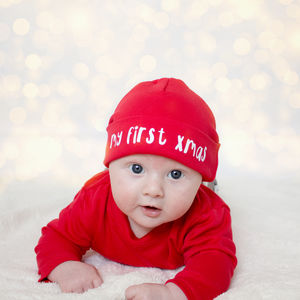 My First Christmas Baby Hat