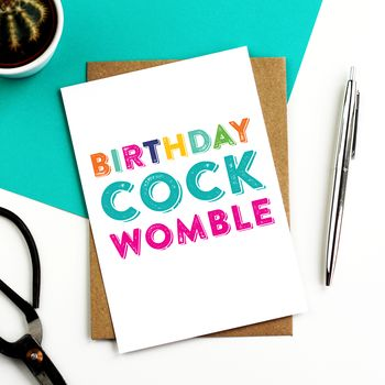 Birthday Cockwomble Greeting Card