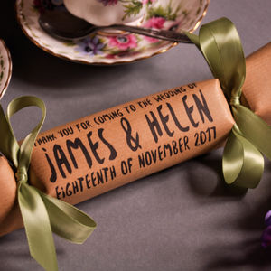 Wedding Favour Or Place Name Crackers Homespun