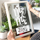 Personalised Mr And Mr Civil Wedding Papercut