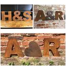 Personalised Letters Metal Vintage Wedding Sign
