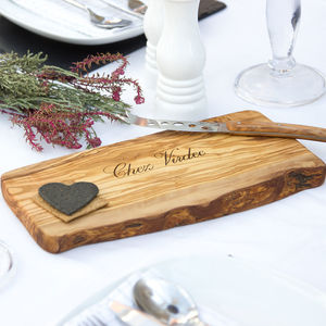 Personalised Olive Wood Serving Board - chopping boards