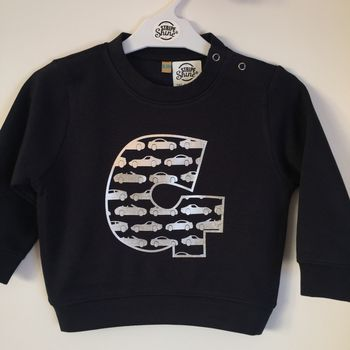 Cars Personalised Initial Baby/Toddler Sweatshirt