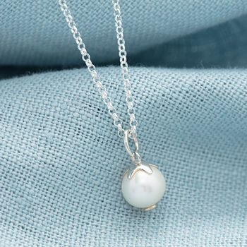 June Birthstone Pearl Necklace