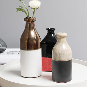 Eclectic Earthenware Stem Vases