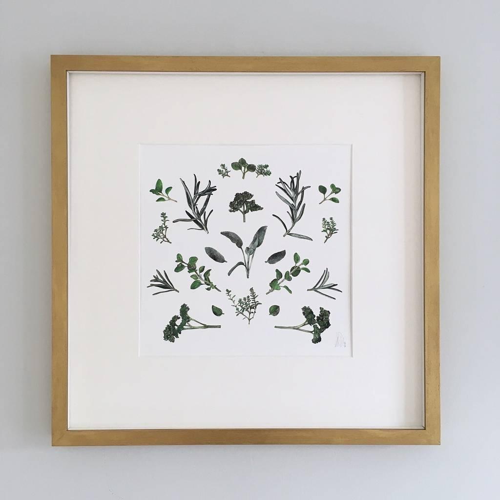 kitchen garden herb giclee print by lale guralp | notonthehighstreet.com