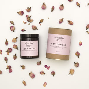 Rose Geranium And Patchouli Candle - candles & home fragrance
