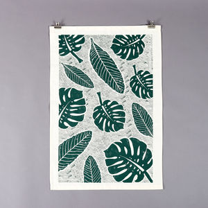 Leaf Tea Towel - kitchen