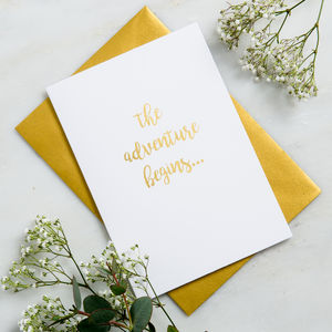 'The Adventure Begins' Wedding Card
